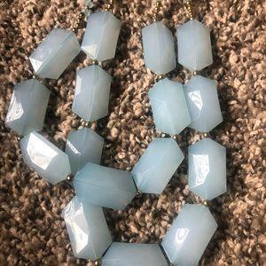 Sky blue layer necklace